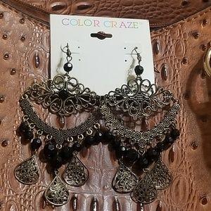 Color Craze - Filagree Chandelier Earrings